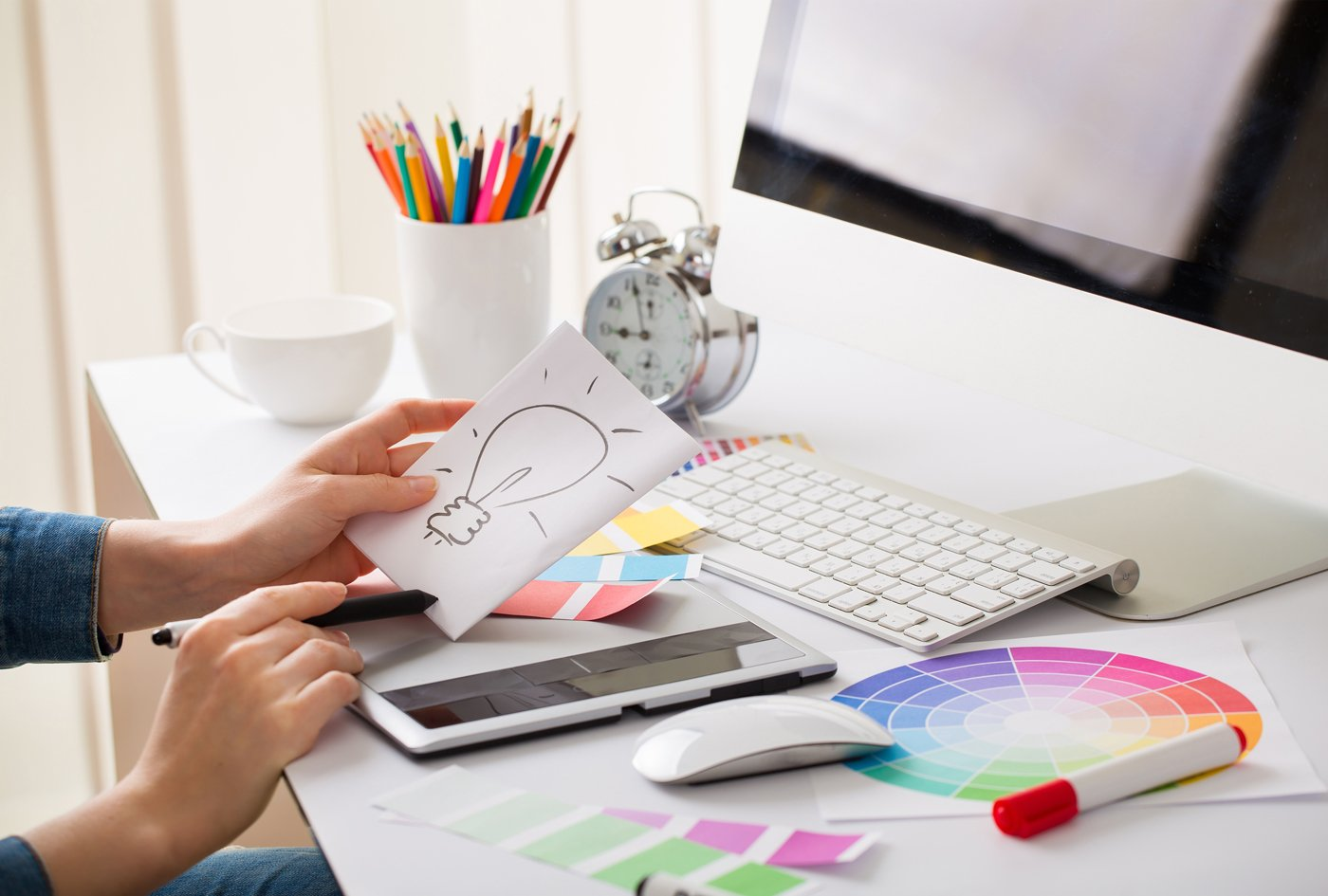 desktop and design graphic designer desk idea. Two Biggest Cheap Graphic Design Mistakes a Business Can Make