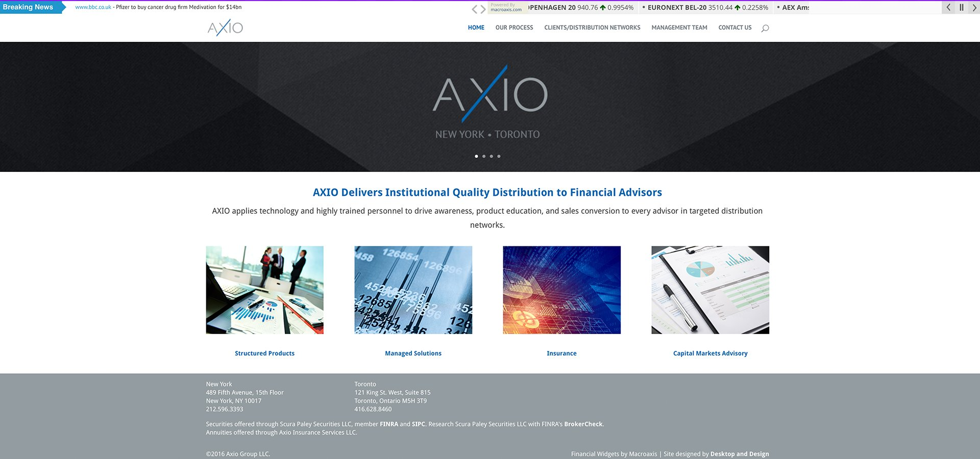 Project Web Design Axio Financial