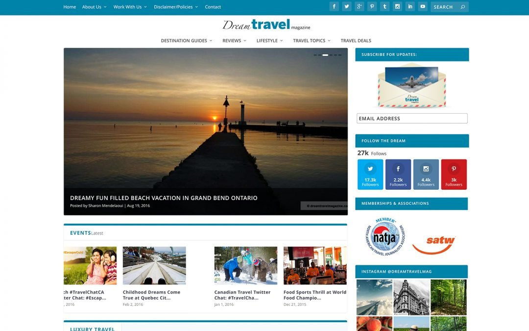 Project | Web Design | Dream Travel Magazine