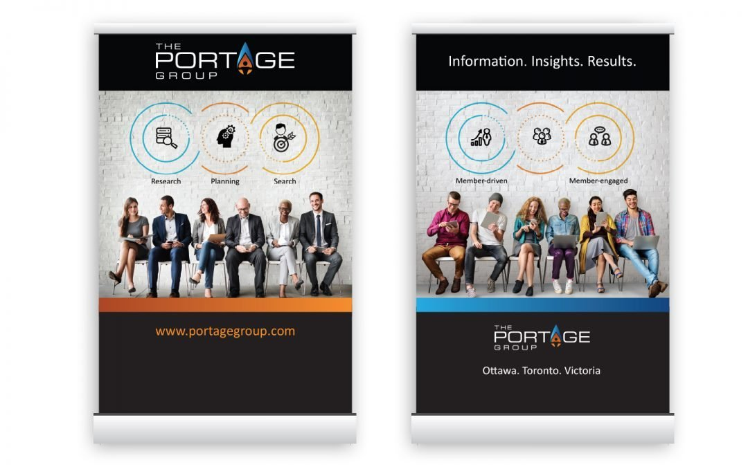 Side by Side Trade Show Banners