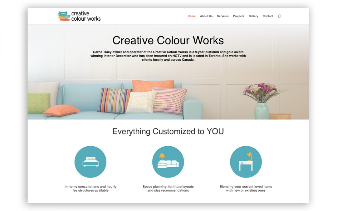 Interior Decorator Website Design