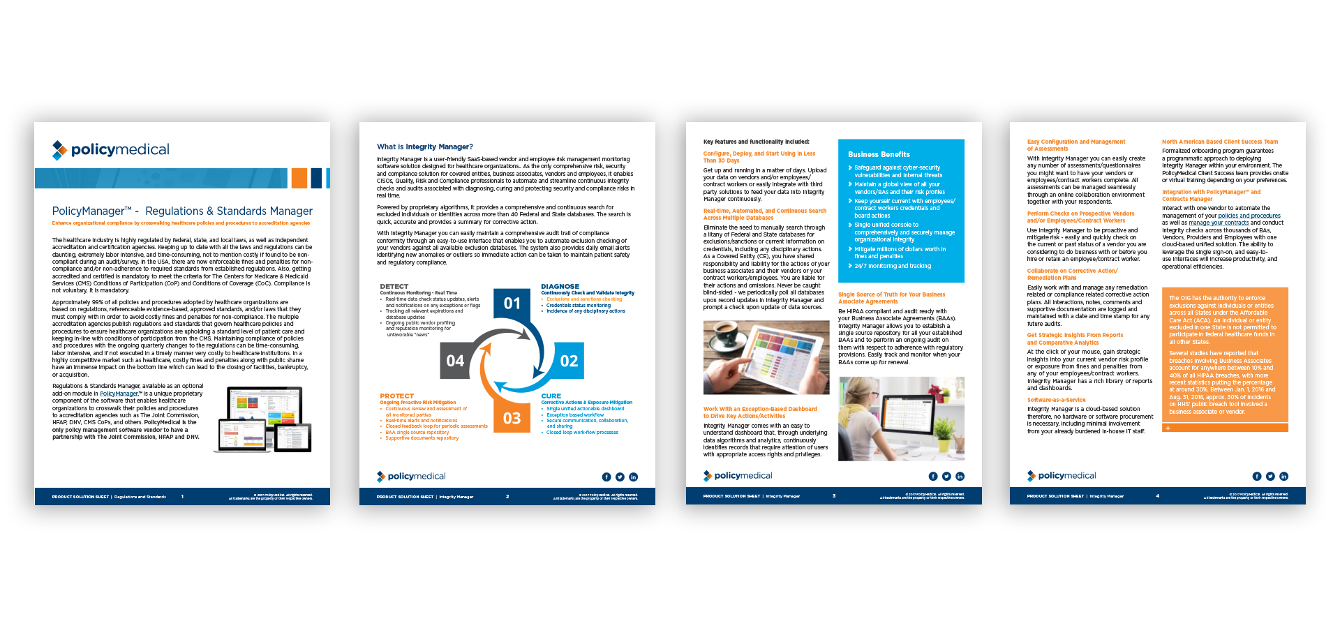 Healthcare product download pages