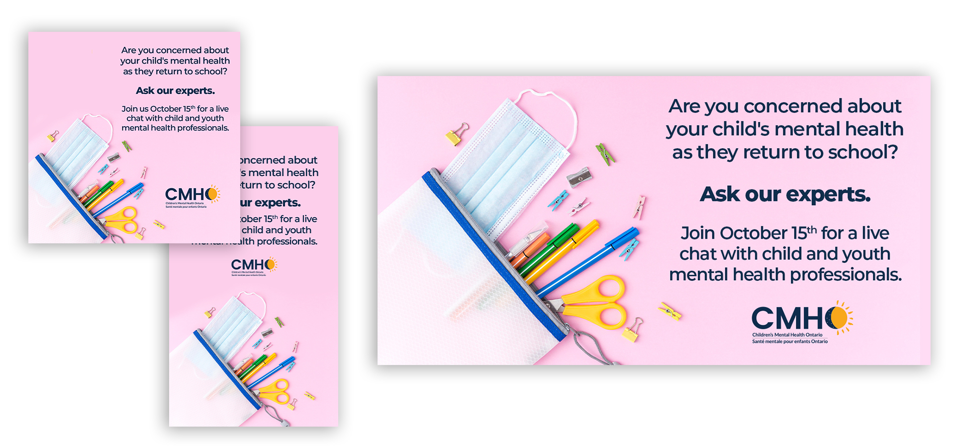 Charity back to school social post designs